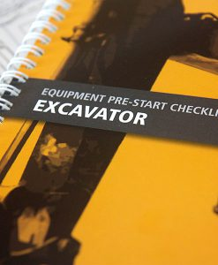 Excavator Pre Start Checklist Books