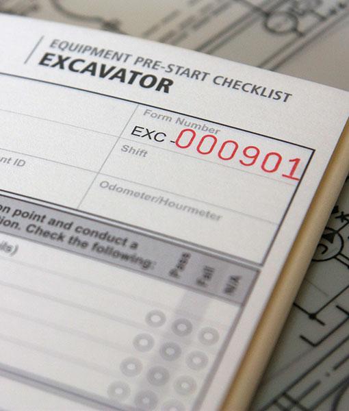Excavator Pre Start Checklist Books