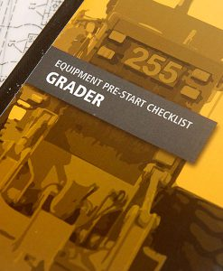 Grader Pre Start Checklist Books