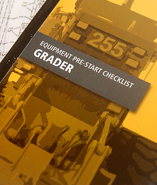 Grader Pre Start Checklist Books