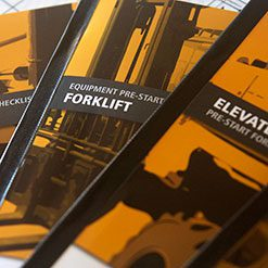 Equipment Pre-Start Checklist Safety Books
