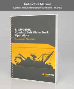 Conduct Bulk Water Truck Operations (RIIMPO206D)