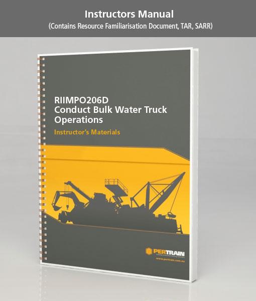 Conduct Bulk Water Truck Operations (RIIMPO206D)
