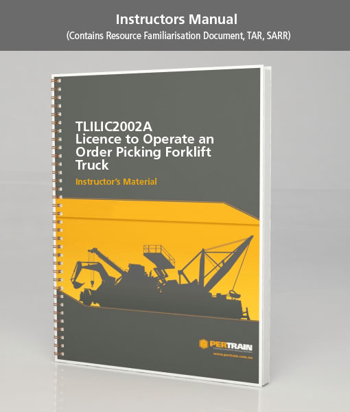Licence to operate an order picking forklift truck (TLILIC2002A)