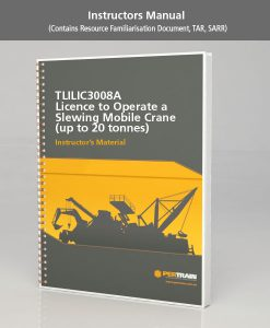Licence to operate a slewing mobile crane