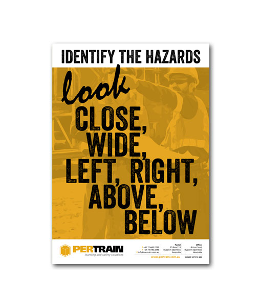 Identify The Hazards Poster Pertrain Pty Limited