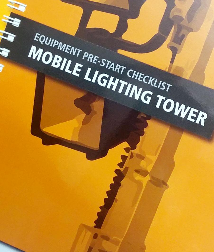 Light Tower Baseball Training: Lighting Tower Pre Start Checklist Books