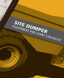 Site Dumper Pre Start Checklist Books