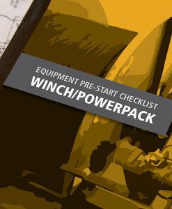 Winch Pre Start Checklist Books