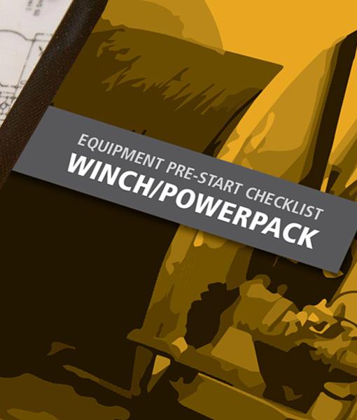 Winch Pre Start Checklist Books