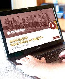 Work safely at heights elearning course