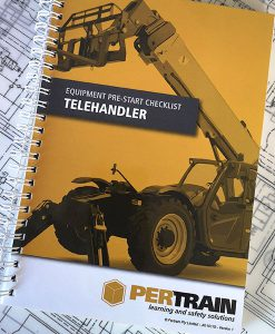 Telehandler pre start checklist books
