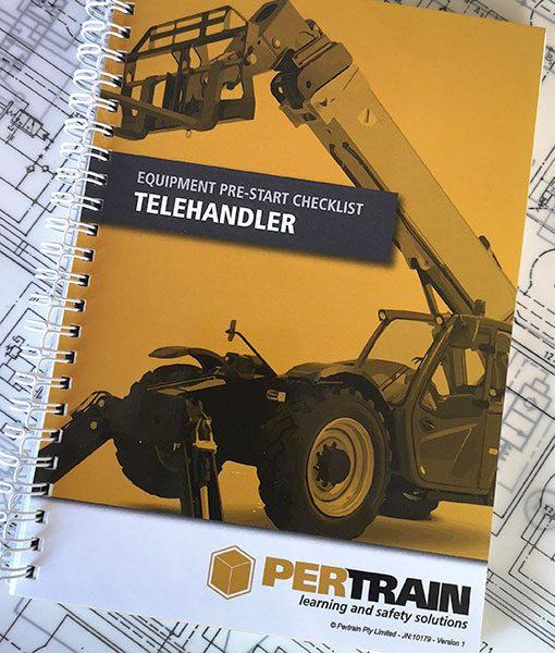 Telehandler pre start checklist books
