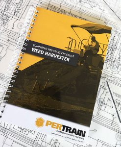 Pre-start checklist books for Weed harvester
